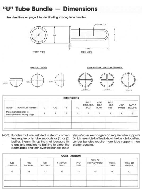 Quot U Quot Tube Bundle Dimensions Multitherm Coils